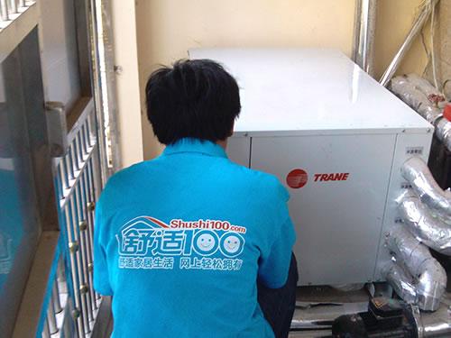 武汉地源热泵平板太阳能工程案例-舒适100网再次入驻梦湖香郡