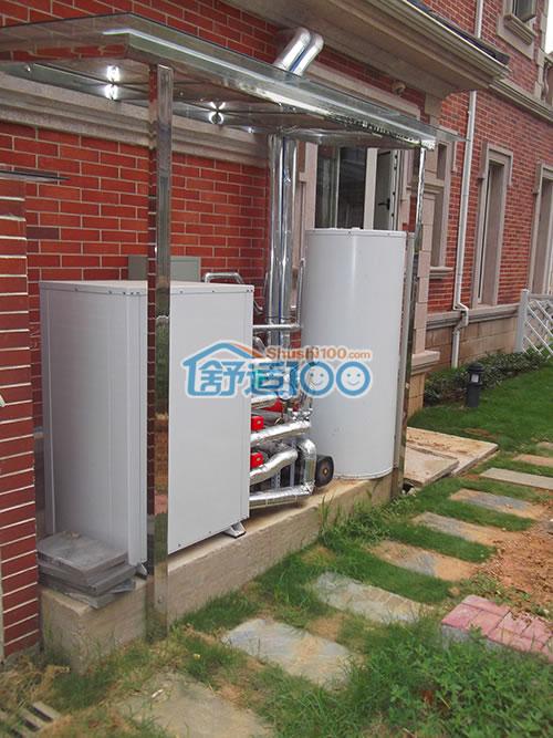航天银湖湾450平米别墅地源热泵,新风系统,中央水处理工程案例