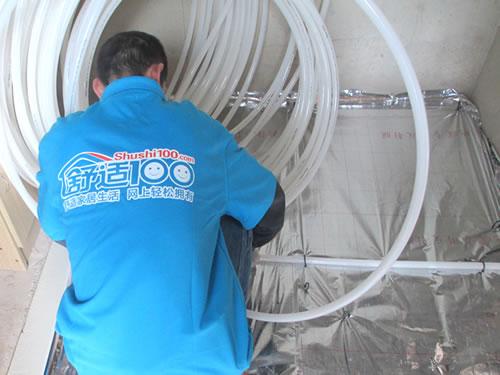 地暖安装示意图 水地暖安装工艺流程 cgb901228 cgb
