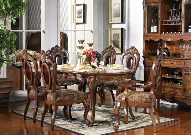 舒适100网讯欧式餐桌餐椅是现代人们选购家具比较喜欢挑选的风格图片