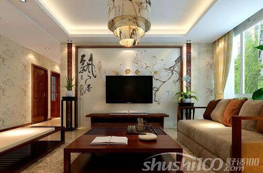 新中式电视背景墙墙纸 特点介绍