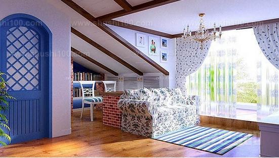頂樓帶閣樓的裝修是要注意突出房屋的特點的
