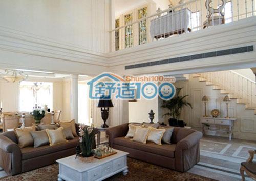 客厅中央空调安装-长形的出风口能满足客厅大面积的温度需求