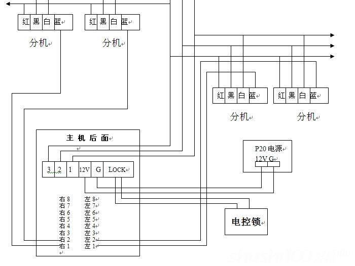 楼宇对讲机接线如何接