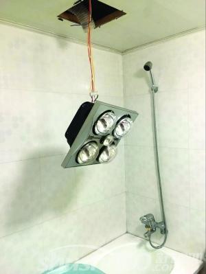 浴霸灯脱落—看看浴霸灯如何安装和修整
