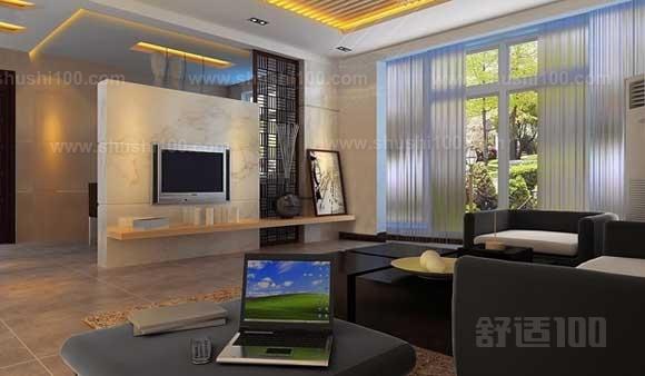 客厅半隔断电视墙—欧式木雕