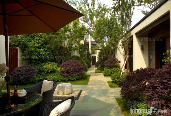 中式庭院地面铺装—中式庭院与日式庭院的区别图片