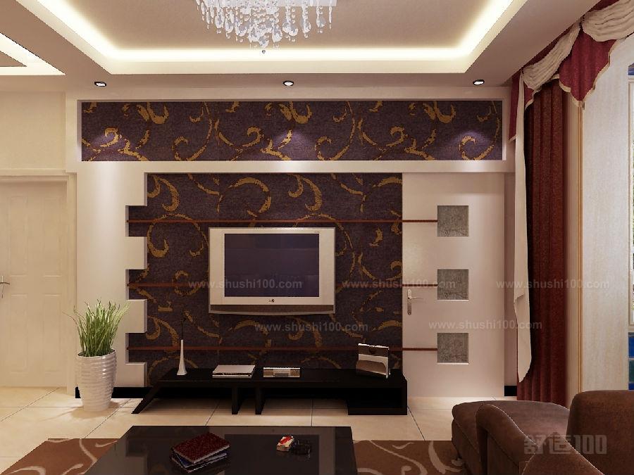 欧式隐形门电视背景墙效果图