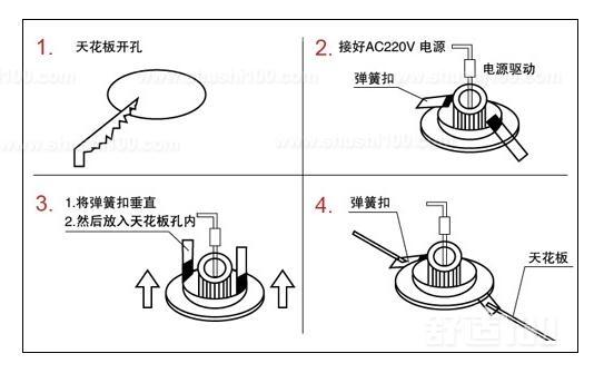 老式筒灯如何安装—老式筒灯安装方法