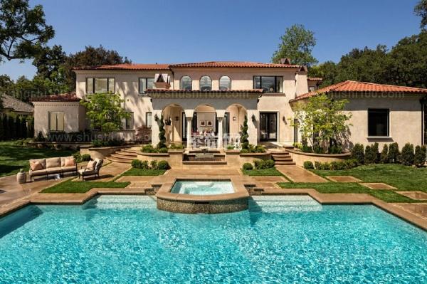 别墅庭院游泳池—别墅庭院游泳池的设计原则