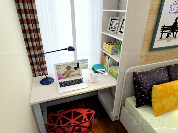 飘窗转角书桌—如何设计安装飘窗转角书桌