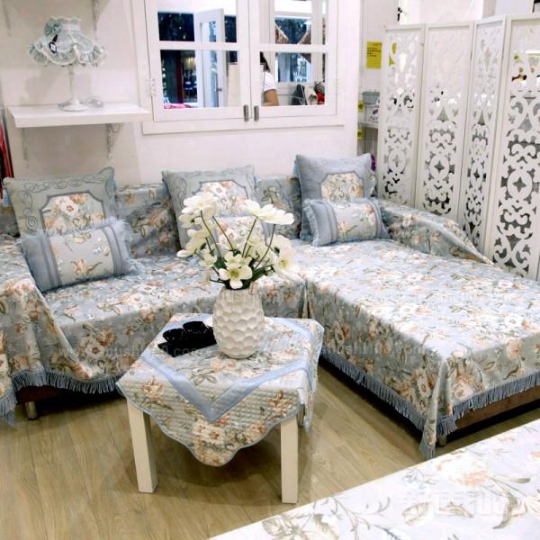 沙发罩布艺 沙发罩布艺的制作材料介绍图片