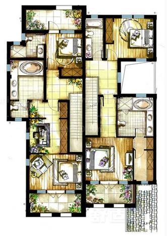 联排别墅平面—联排别墅平面设计风格和形式