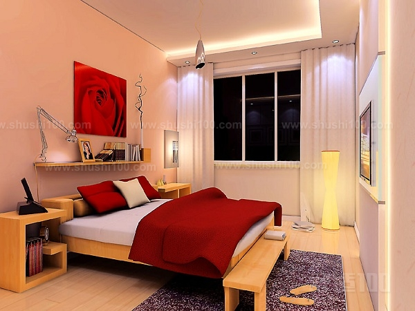 1、卧室设计以床为中心。在进行卧室设计时,设计重心就是床,卧室空间的装修风格、布局、色彩和装饰等所有一切都应以床为中心来进行。床在卧室中所占的面积最大,所以最应该好好安排床在卧室中的位置,然后再考虑其他设计。当设定好床的位置、风格和色彩之后,卧室其余部分就可以开始设计了。