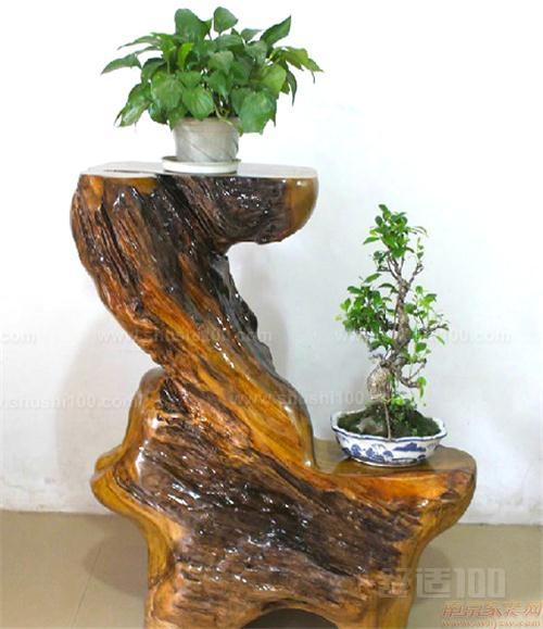 黑檀木花架—根雕花架的基本介绍