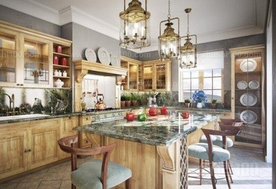 厨房中岛台—四款厨房中岛台设计欣赏