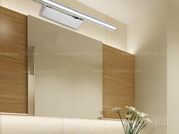 安装步骤—镜前灯介绍 镜前灯是梳妆镜上面的那个灯,也是卫生间镜子