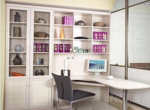 转角书桌书柜尺寸设计
