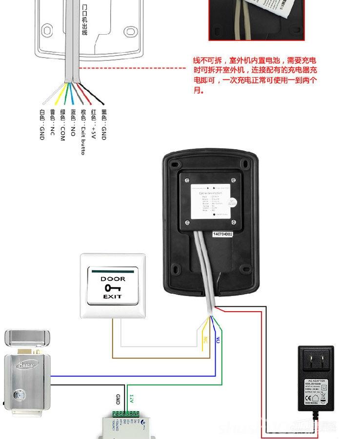 在单元楼前处安装室外主机和电源,室内安装分机,层间安装层间隔离器。系统安装方便,功能简洁,布线简单,给施工、维修带来极大的方便。 非可视对讲门铃功能概述: 1.对讲功能 来访客人可在单元门口的主机上拨三位或四位数字键,呼叫住户室内分机,住户室内分机振铃,住户通过室内分机可与来访者通话,以此来辨别来访者的身份,并决定是否为其开启单元门。 2.