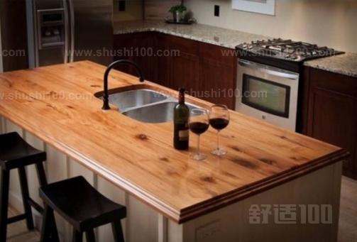 木质厨房台面—实木台面特点 实木台面让人感觉温暖,而且触感舒适,最图片