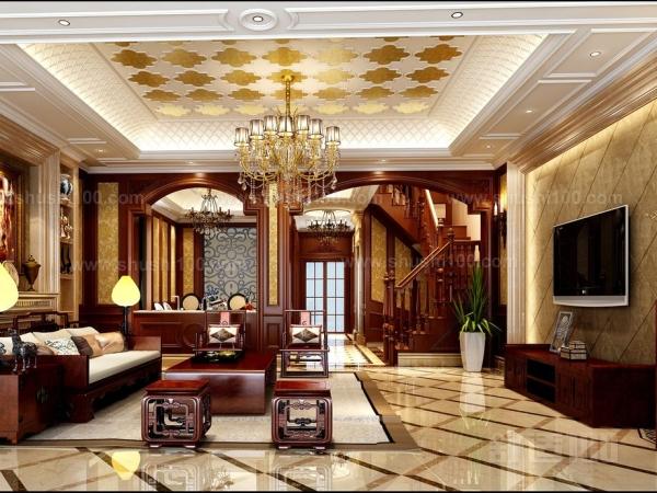 欧式别墅背景墙主要是弥补客厅电视背景墙太短