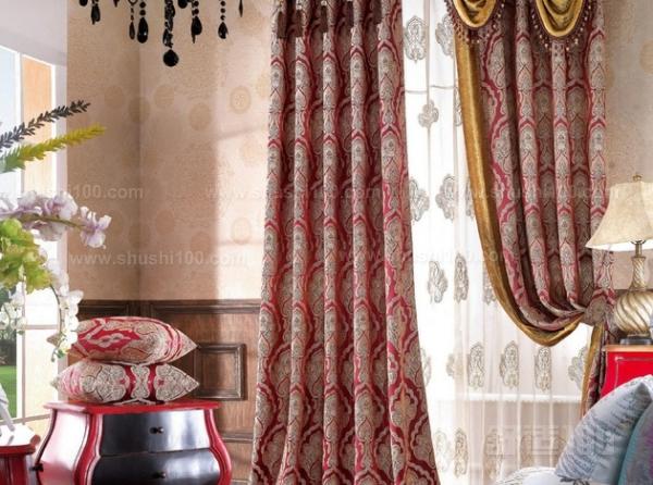 欧式窗帘花纹—白色或淡象牙色
