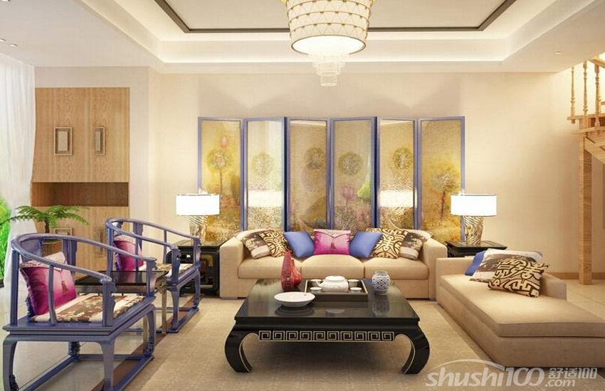 中式客厅软装设计方案—圈椅组合 双人沙发