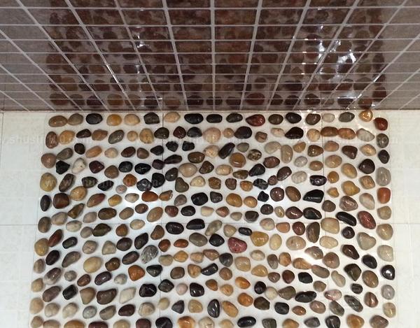 鹅卵石浴室-浴室鹅卵石铺装具体方法 1.