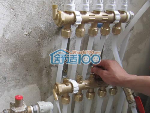 保利pe-rt地暖管,曼瑞德分集水器,曼瑞德温控器,电热阀,华美保温等图片
