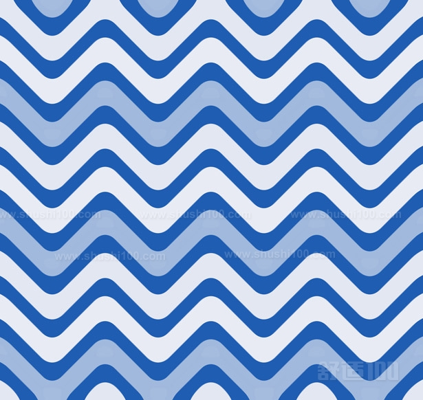 黑白波浪线条矢量图