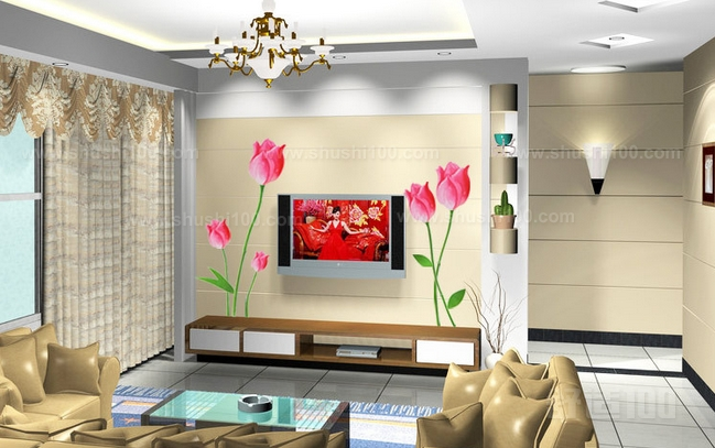 客厅墙贴画 客厅墙贴画装饰注意事项图片