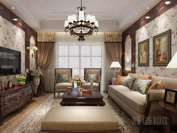 美式现代混搭_美式田园客厅—美式田园客厅搭配知识介绍