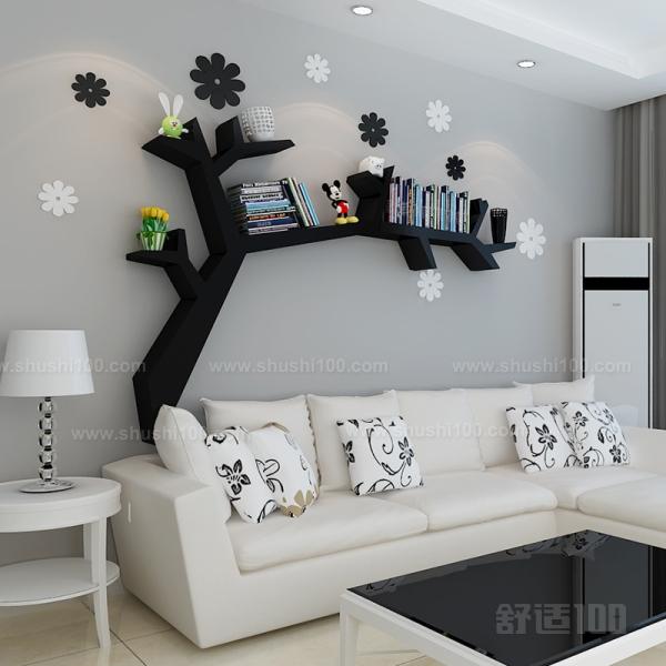 墙体简易书架 墙体简易书架的作用和样式分类
