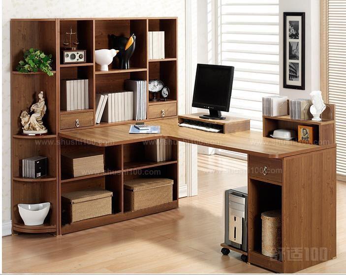 墙角书桌—美筑丽家 美筑丽家欧式书柜书桌采用可收缩的合理设计,可