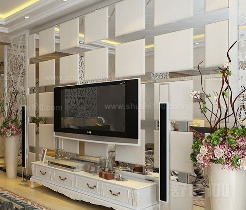 2016玻璃电视北景欧式装修效果图