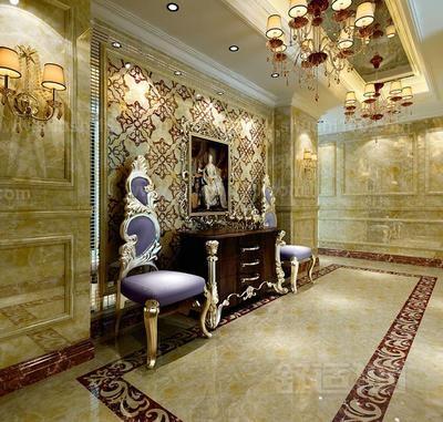 天然石材作为室内地面铺装材料的因为,天然石材给人的感觉就是很豪华