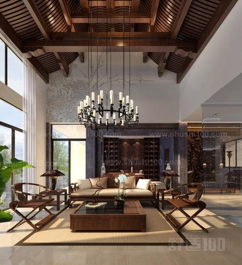 挑空中式客厅茶室—挑空中式客厅茶室的设计搭配介绍