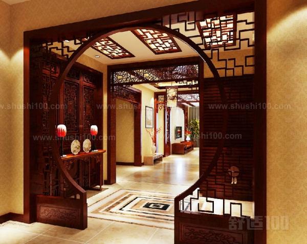 中式实木拱形玄关—中式实木拱形玄关怎么设计