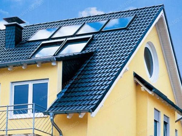 别墅热水系统-别墅平板太阳能热水器价格展示