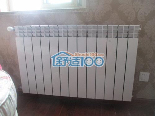 武汉暗装暖气片安装工程-嘉园大厦金海暖气片安装现场