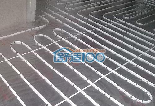 地暖铺设效果图 武汉华润中央公园地暖工程案例 家庭采暖
