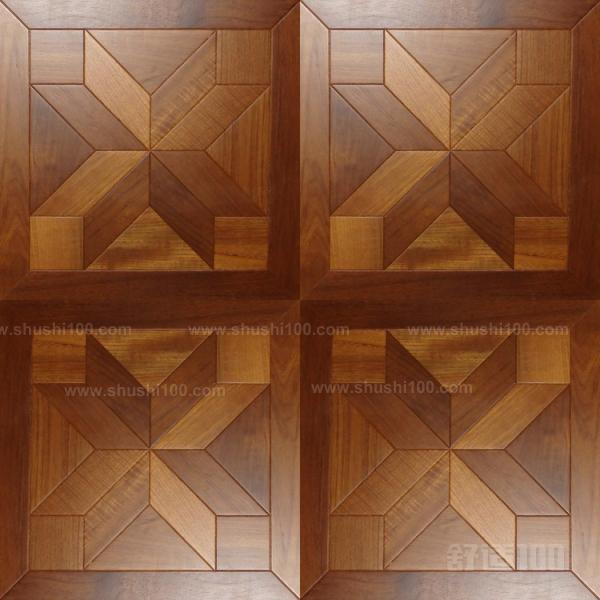 木地板面板,包括一个三角形的形状
