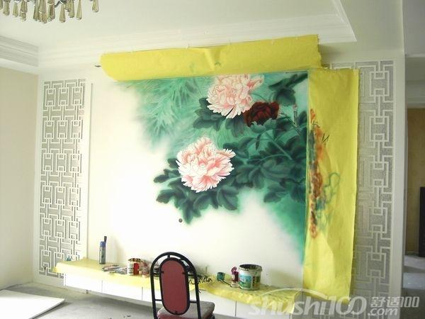 手绘电视墙—手绘背景墙材质 布面手绘:布面手绘材质有,亚麻布,棉麻