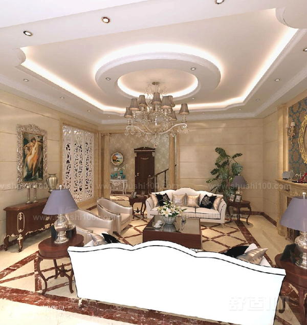 客厅无灯带吊顶 客厅无灯带吊顶如何安装