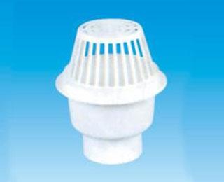 联塑PVC U排水管件系列圆型雨水斗 天台地漏