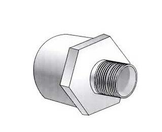 联塑PVC U环保给水管注塑粘接管件系列外丝异径直接头