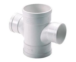 联塑PVC U排水管件系列平面异径四通