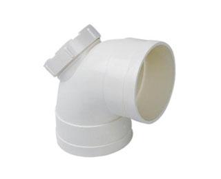 联塑PVC U排水管件系列90 弯头 带检查口
