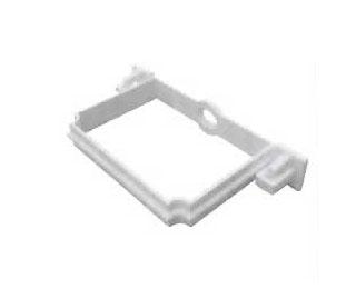 联塑PVC U方形雨落水管件系列方管管卡