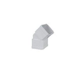 联塑PVC U方形雨落水管件系列方管内外接45 弯头